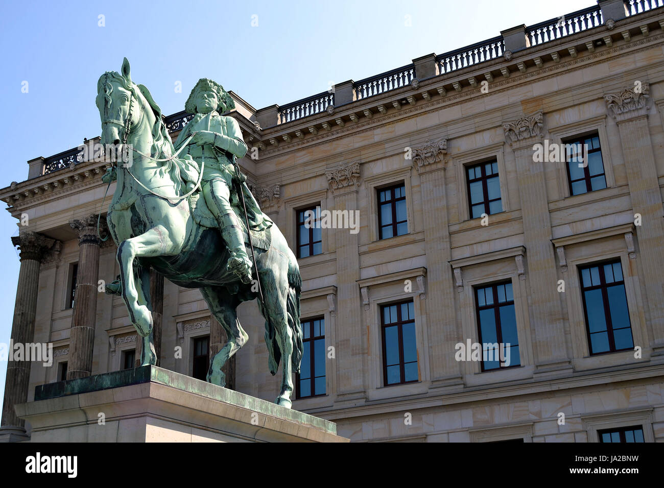 monument, prussia, duke, william, brunswick, monument, statue, prussia, duke, - Stock Image