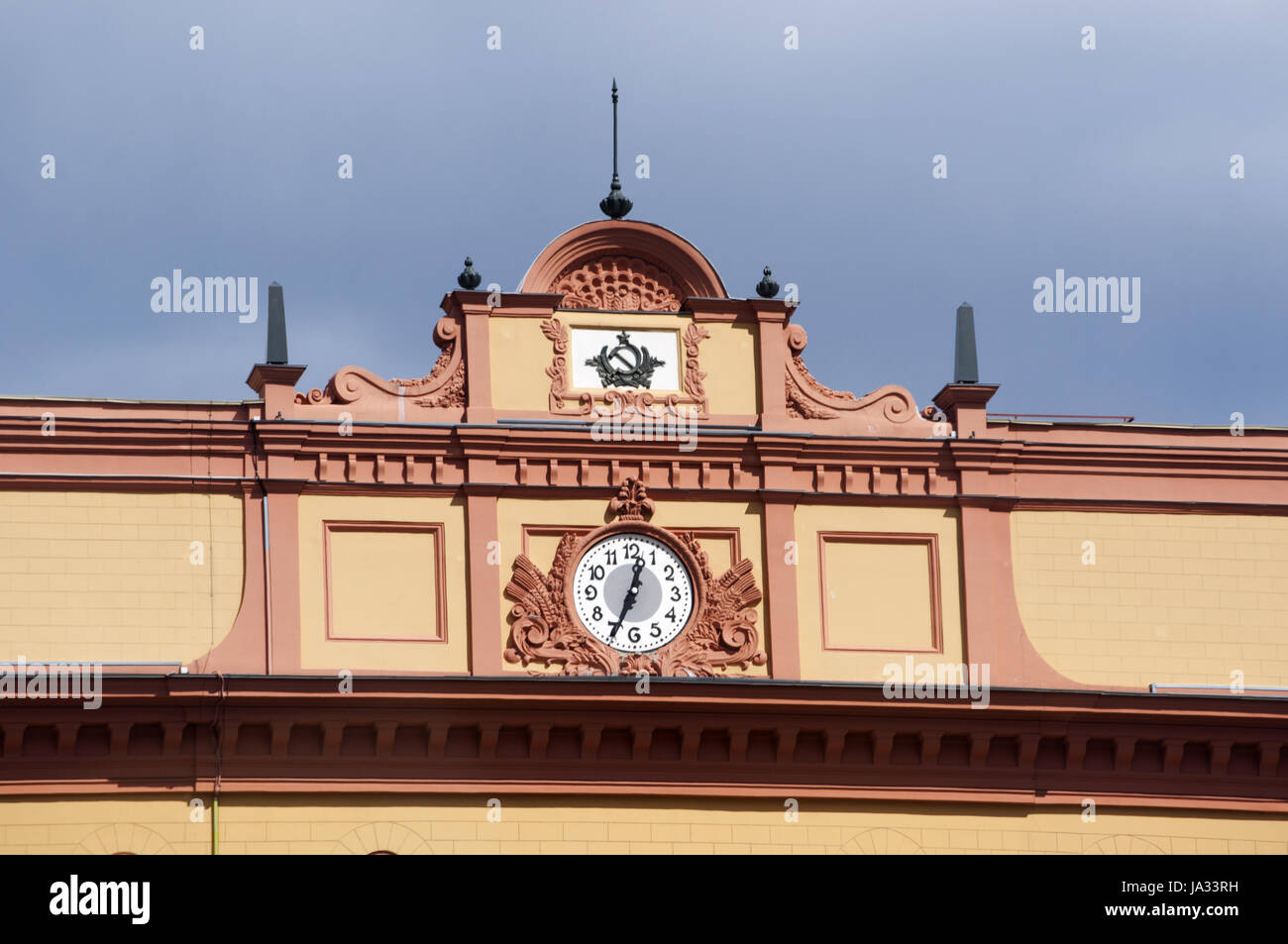 Moscow: the Lubyanka building, popular name for the headquarters of the Kgb and affiliated prison on Lubyanka Square, - Stock Image