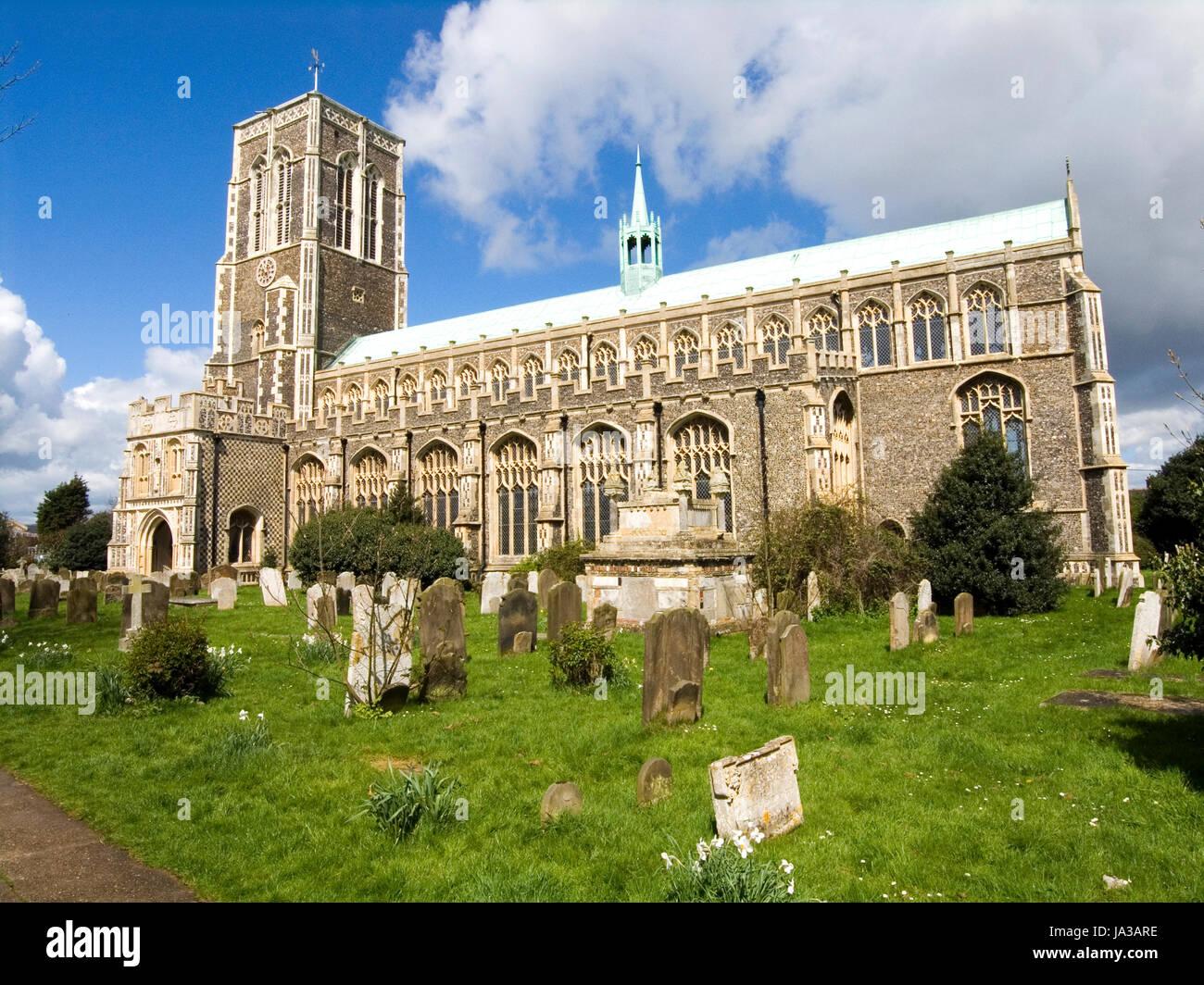 St Edmund's Church Southwold - Stock Image