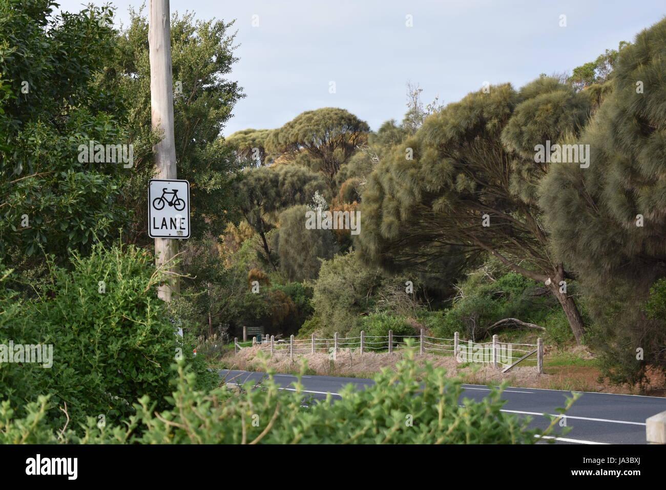 bike lane - Stock Image