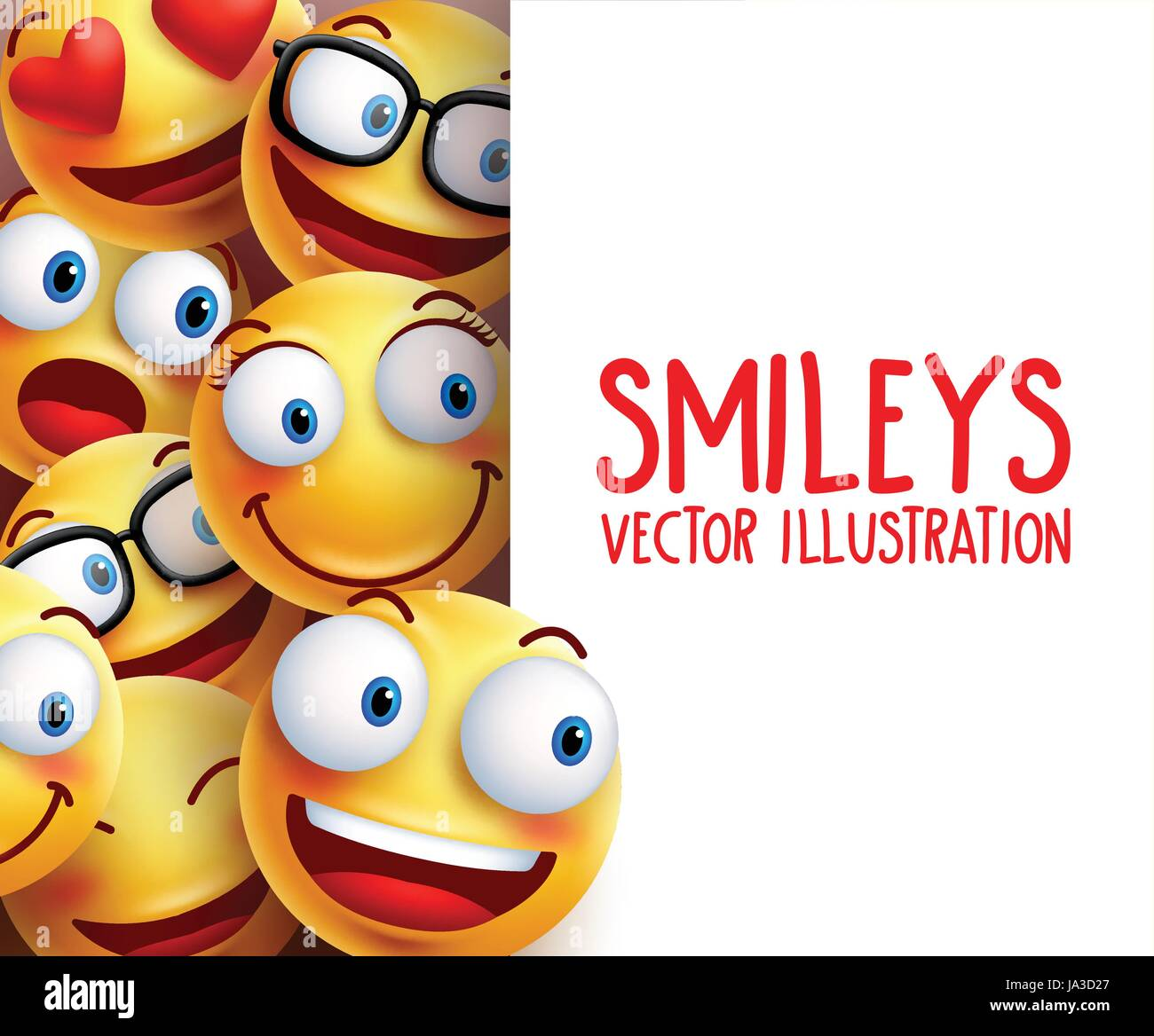 Funny smiley face vector characters happy smiling in the background funny smiley face vector characters happy smiling in the background with empty white board space for text vector illustration voltagebd Image collections