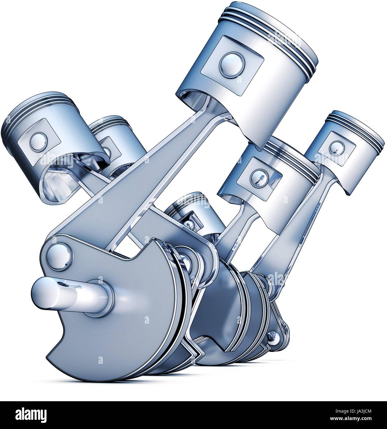 engine, drive, motor, motoring, piston, petrol, economic situation, economy, - Stock Image