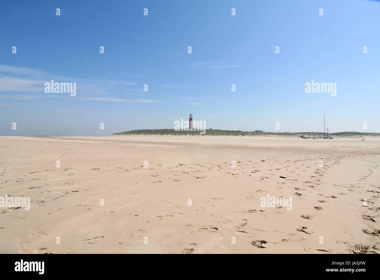 texel beach Stock Photo