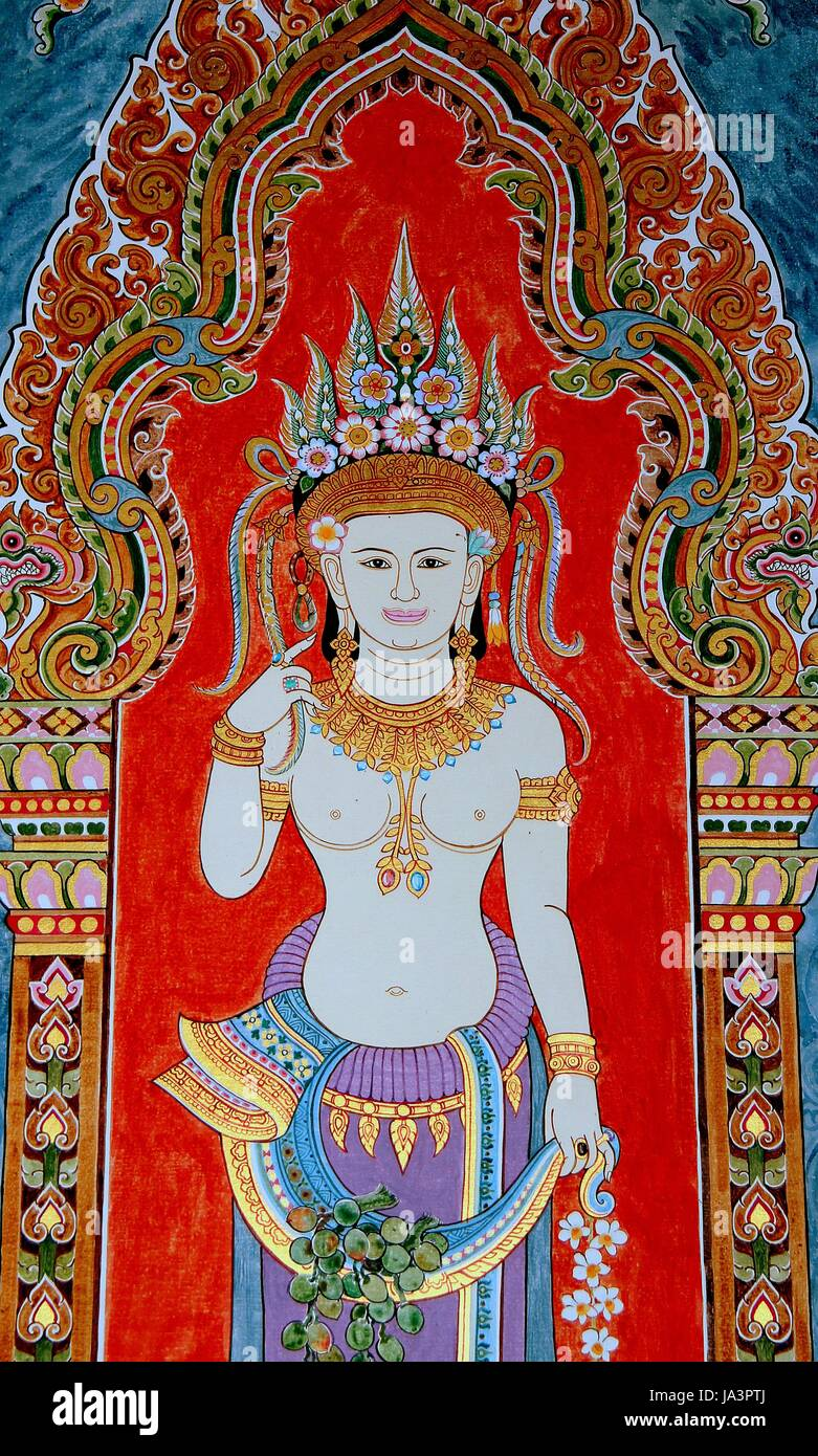 asia, painting, thailand, photo, picture, image, copy, deduction, belief, asia, Stock Photo