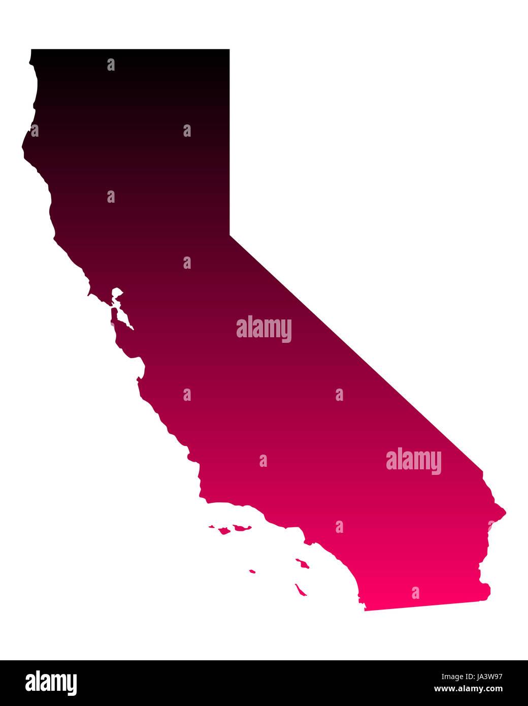 Kalifornien Karte.Karte Von Kalifornien Stock Photo 143915219 Alamy