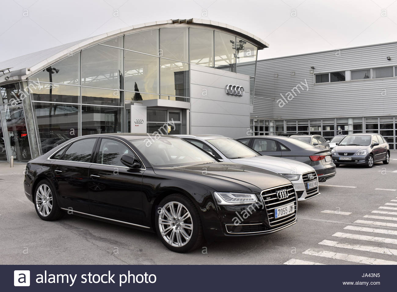 Audi Cars Dealer Store In Barcelona Spain Europe Stock Photo