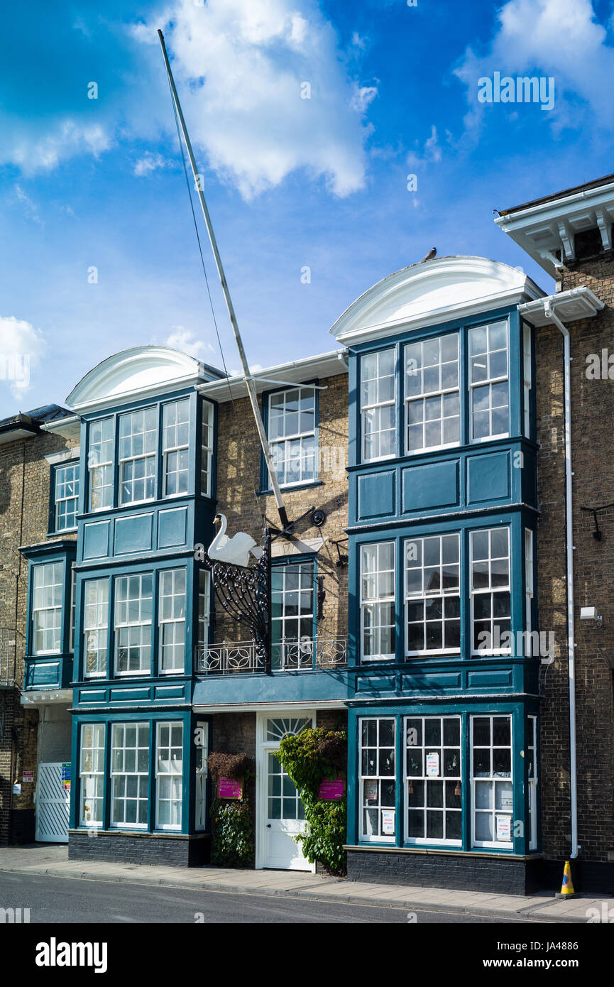 The Swan Hotel in Southwold, Suffolk, The hotel, owned by Adnams Brewery, is undergoing refurbishment. - Stock Image