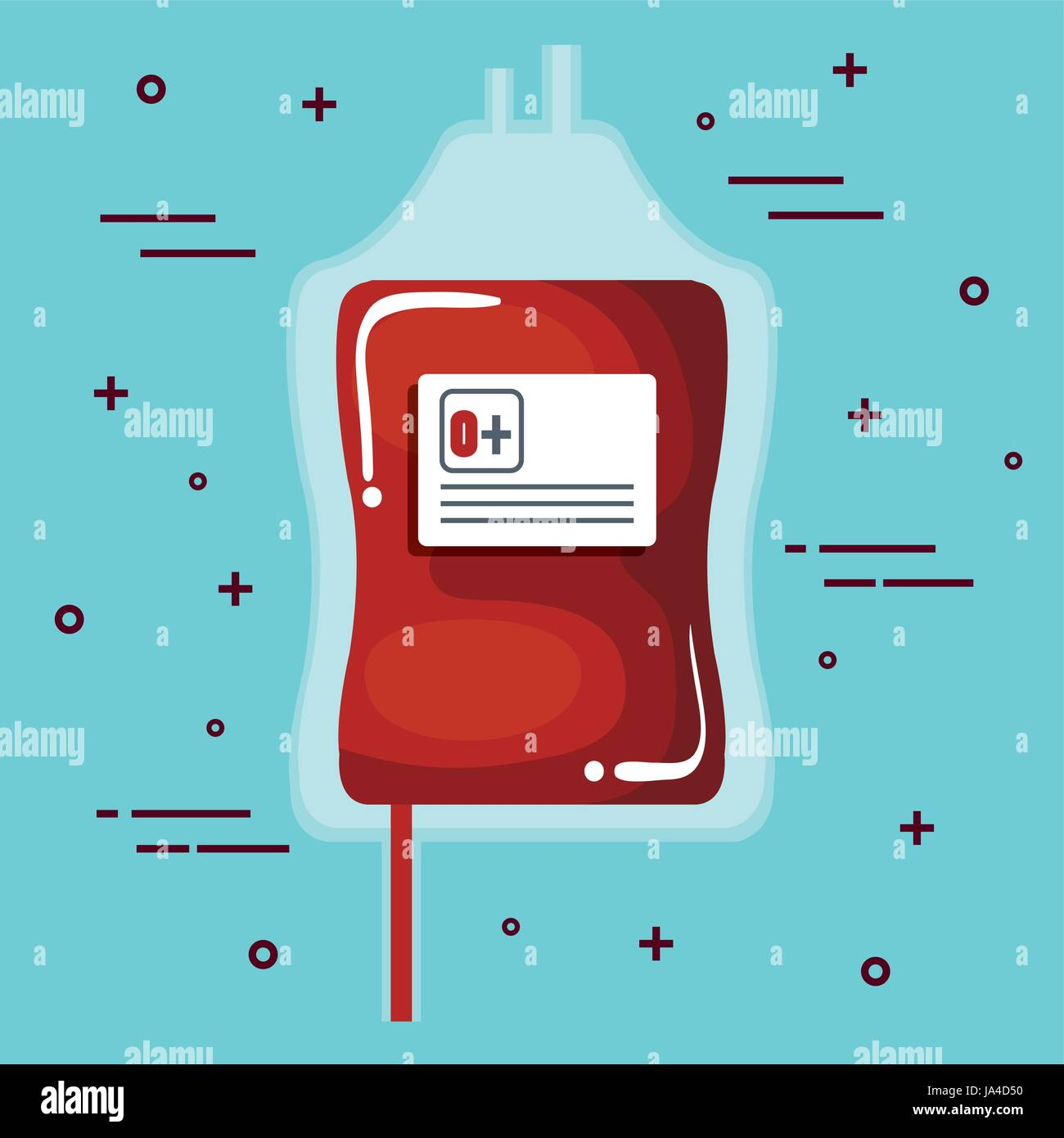 Donating blood design - Stock Image