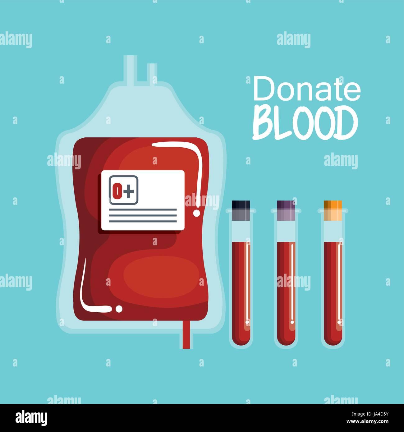 Donating blood design - Stock Vector