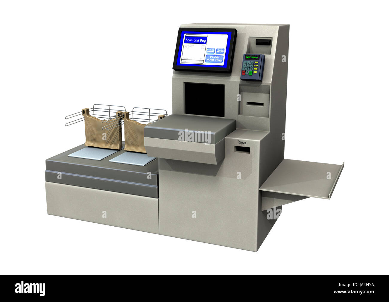 Self Service Supermarket Scanner Stock Photos Amp Self
