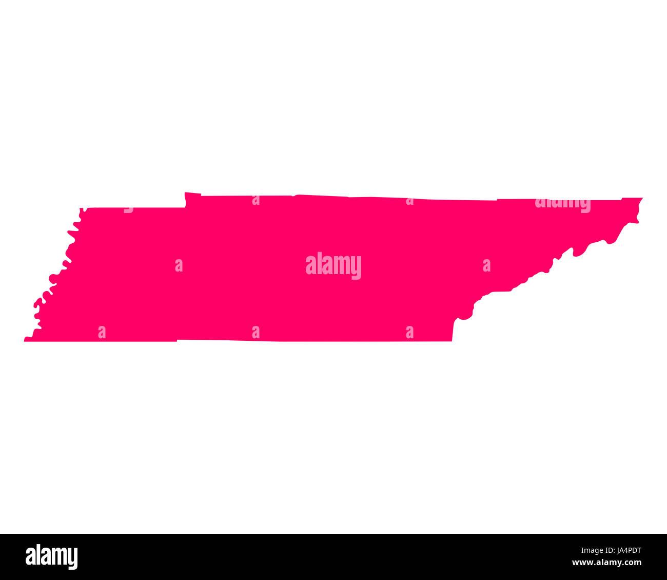 Karte von Tennessee - Stock Image