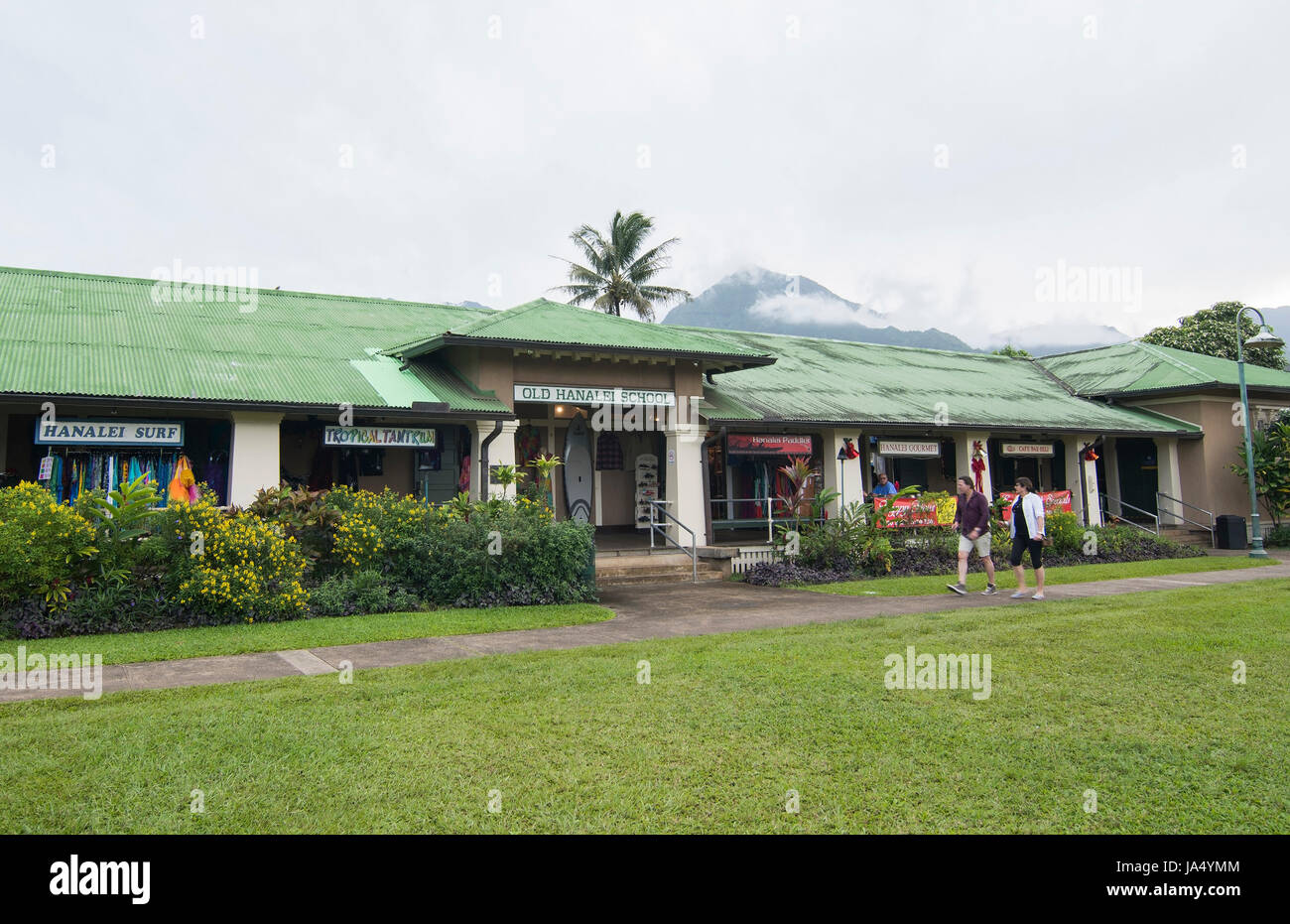 Hanalei Kauai Hawaii Old Hanalei School That Is Now A
