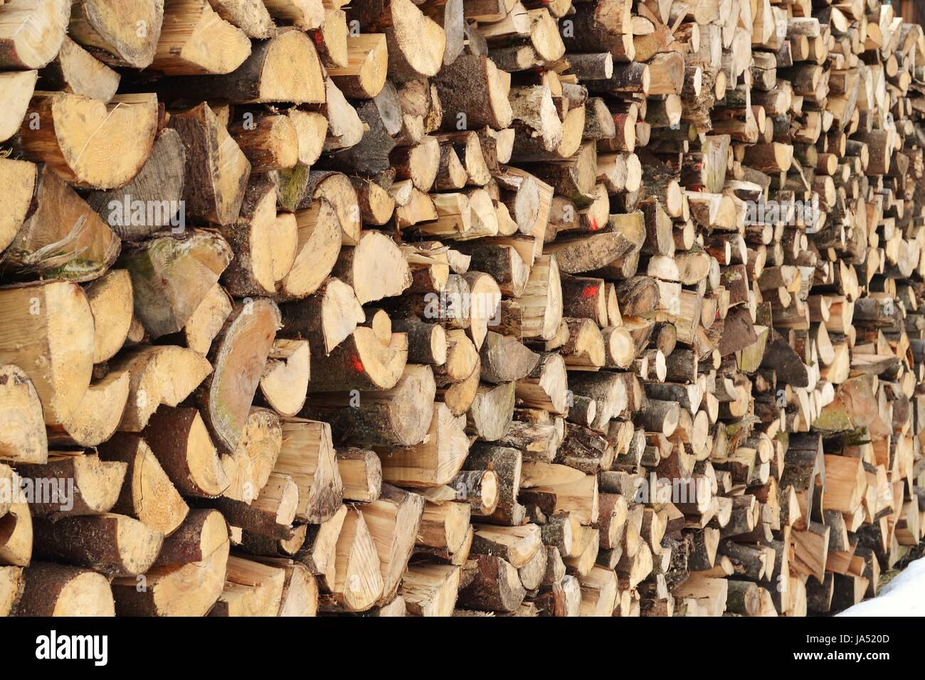 wood, firewood, fuel, softwood, wood, energy, power, electricity, electric - Stock Image