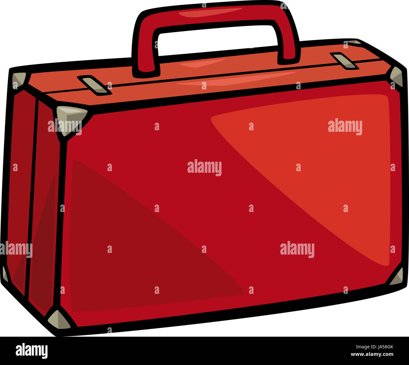cartoon illustration of suitcase clip art stock photo 143946003 alamy rh alamy com clipart suitcase clipart open suitcase