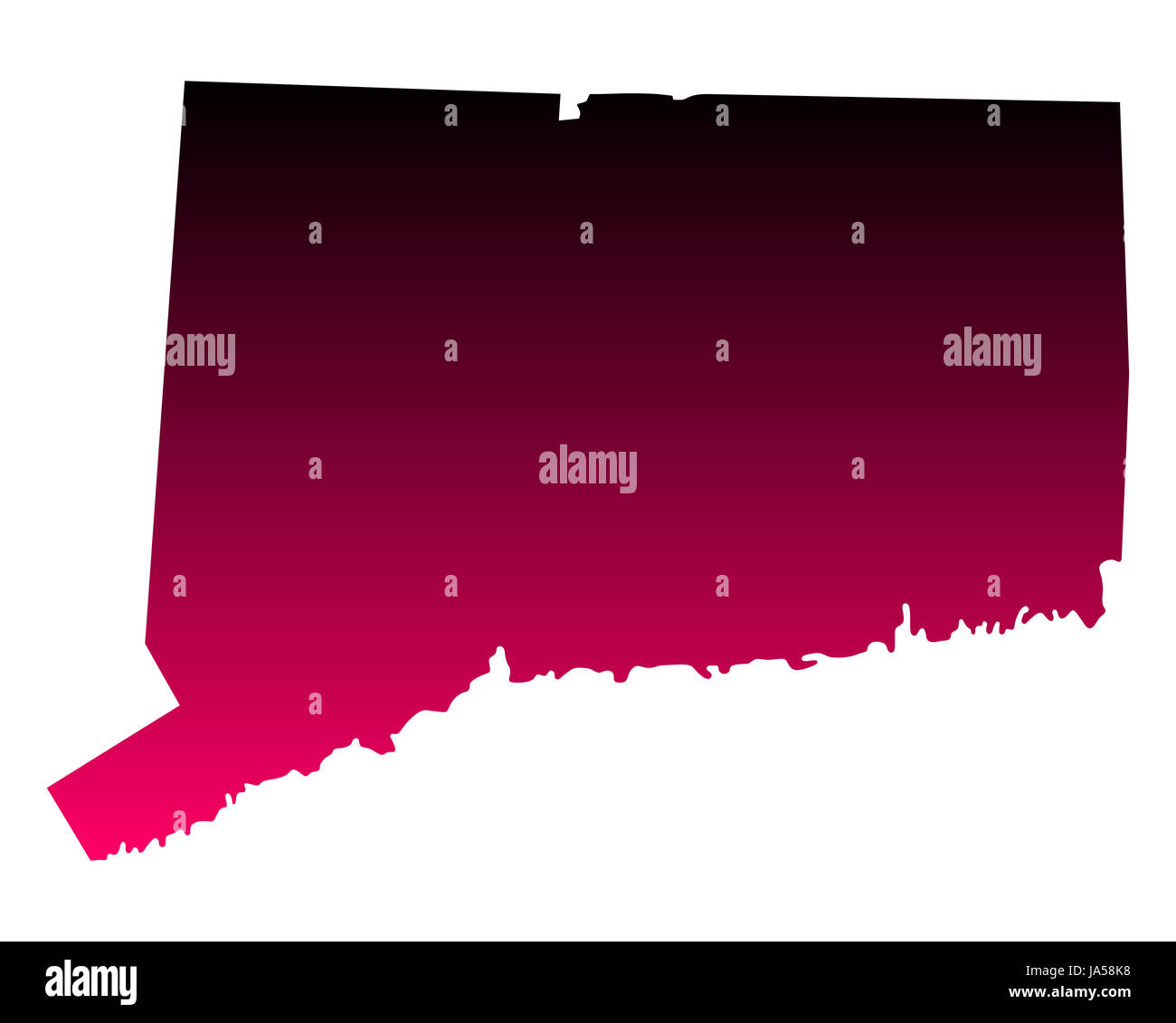 Karte von Connecticut - Stock Image