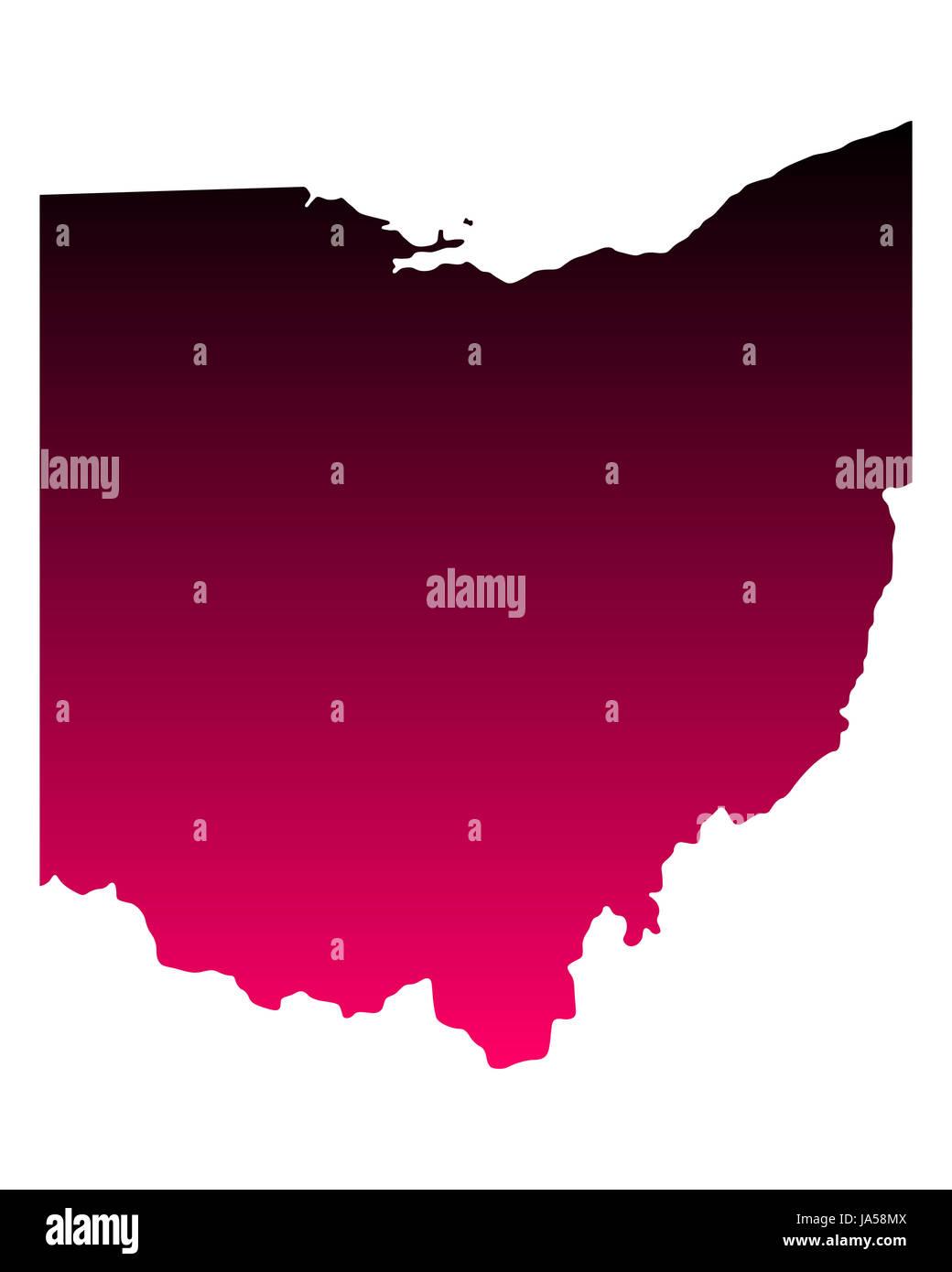 Karte von Ohio - Stock Image