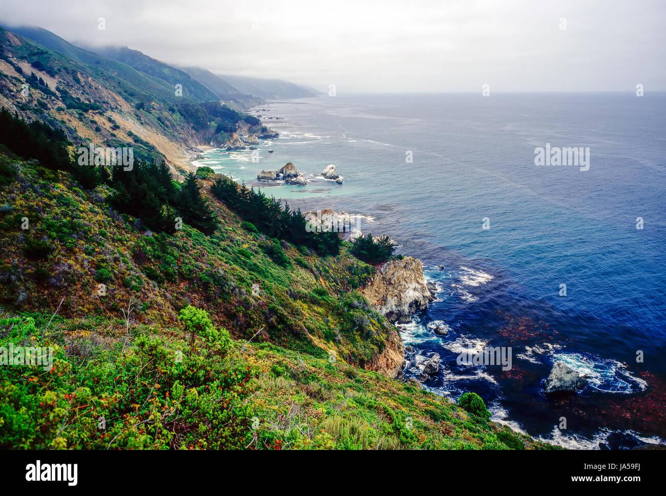 Big Sur, Caélifornia - Stock Image