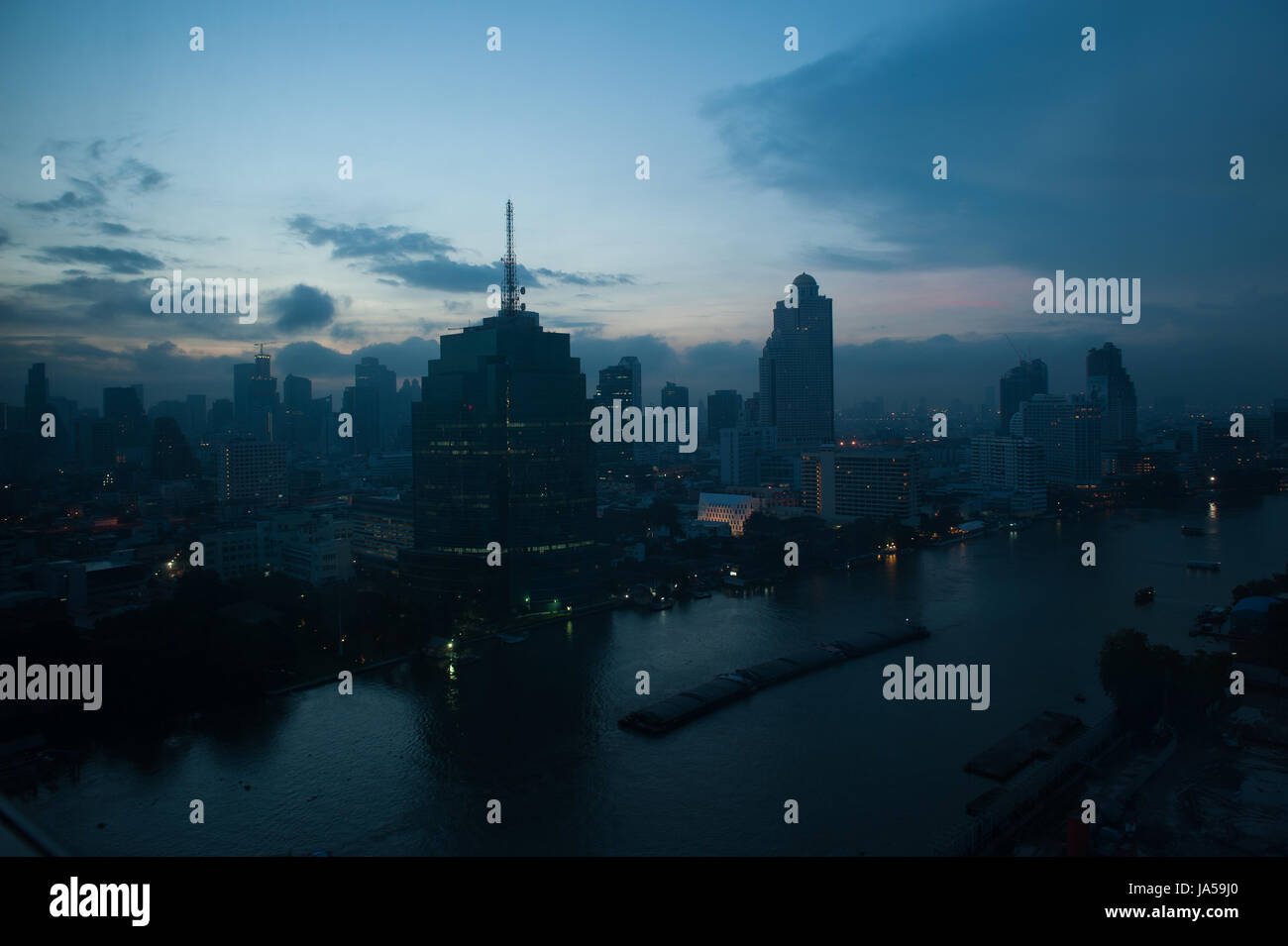 Bangkok at night - Stock Image