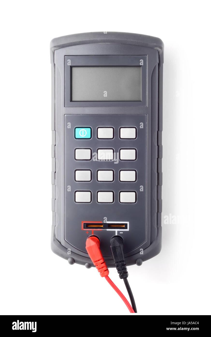 Digital handheld LCR meter top view - Stock Image