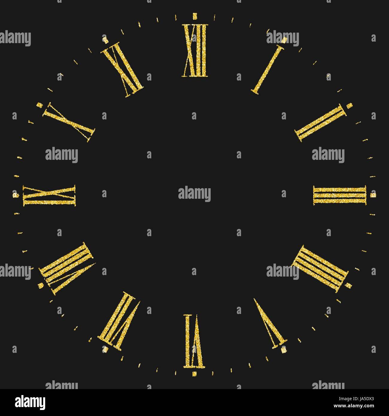 Roman numeral clock Stock Vector