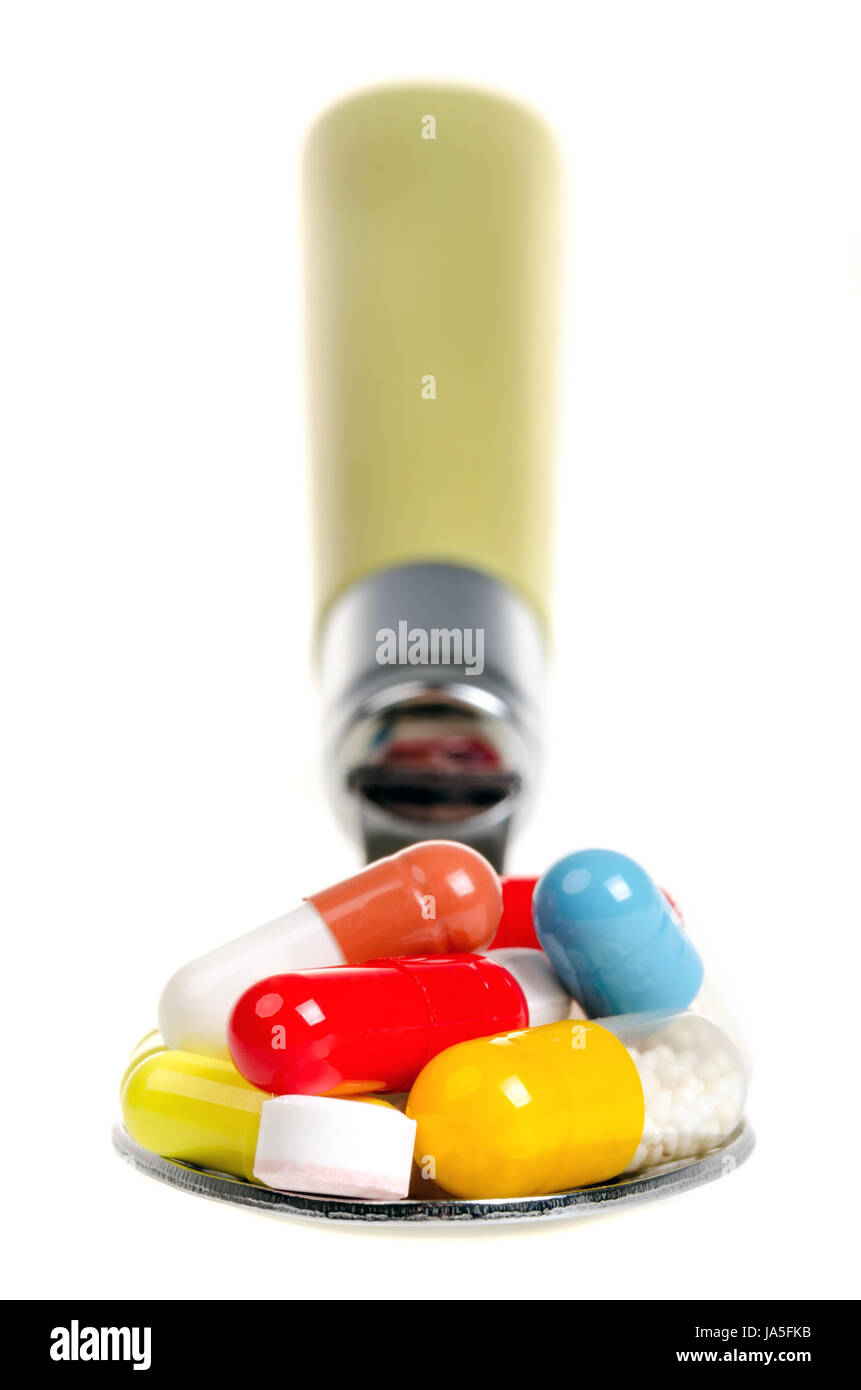blank, european, caucasian, pills, drugs, means, agent, medicine, drug, remedy, - Stock Image