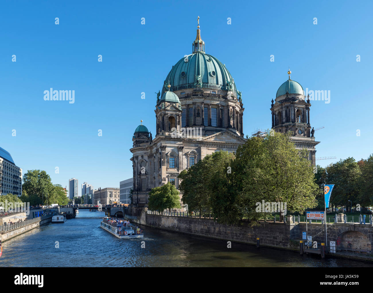 Berliner Dom (Berlin Cathedral) on Museum Island (Museuminsel), Mitte, Berlin, Germany - Stock Image