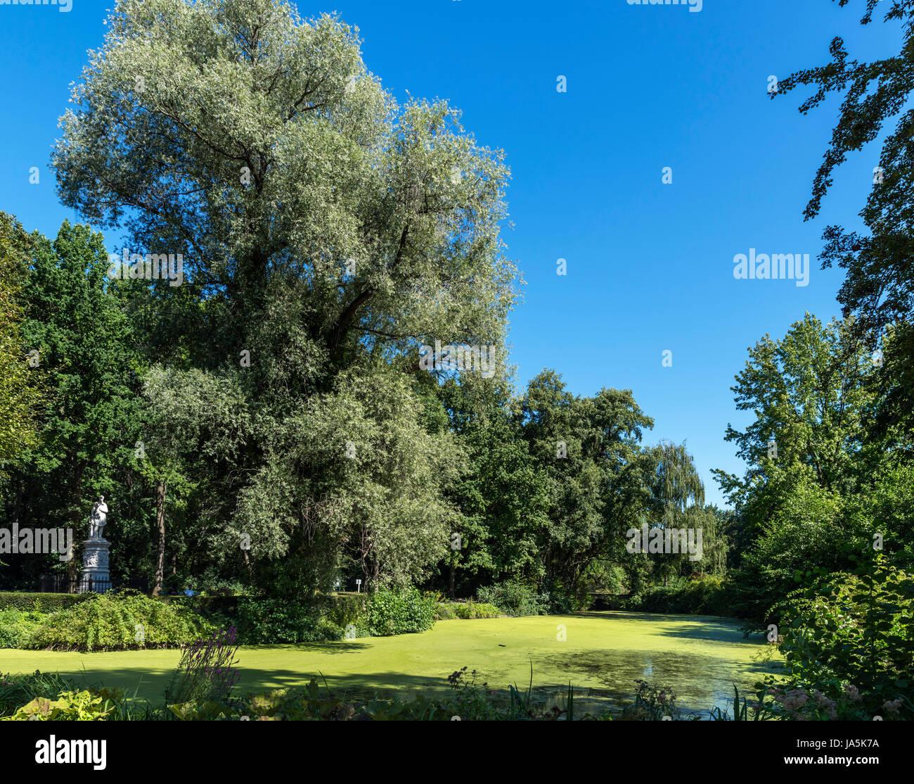 Tiergartengewässer from Luiseninsel, Tiergarten, Berlin, Germany - Stock Image
