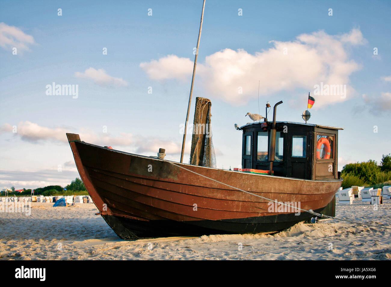 water, baltic sea, salt water, sea, ocean, fishing boat, boat, fishing ship, Stock Photo
