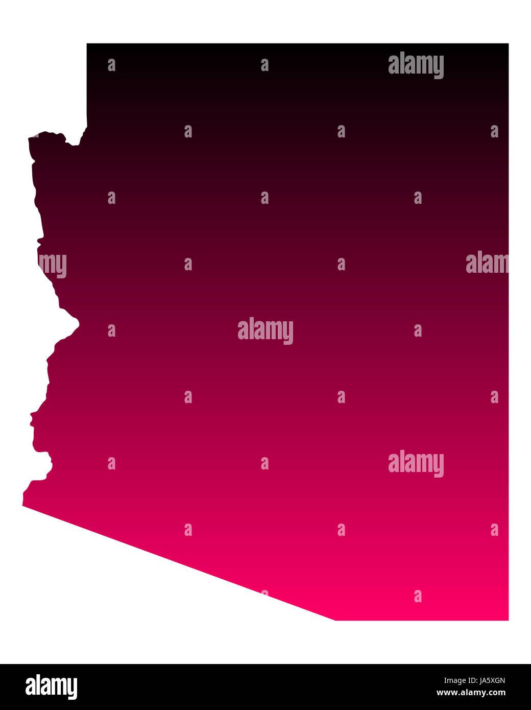 Karte von Arizona - Stock Image