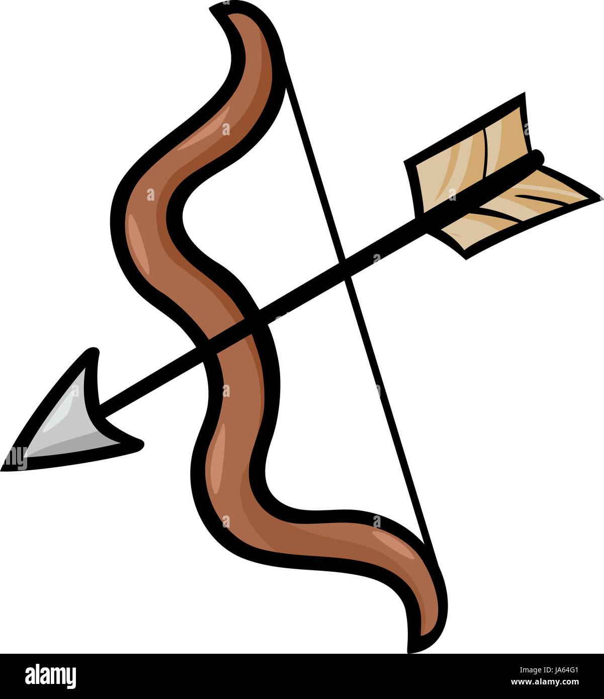 cartoon illustration of bow and arrow clip art stock photo rh alamy com indian bow and arrow clip art