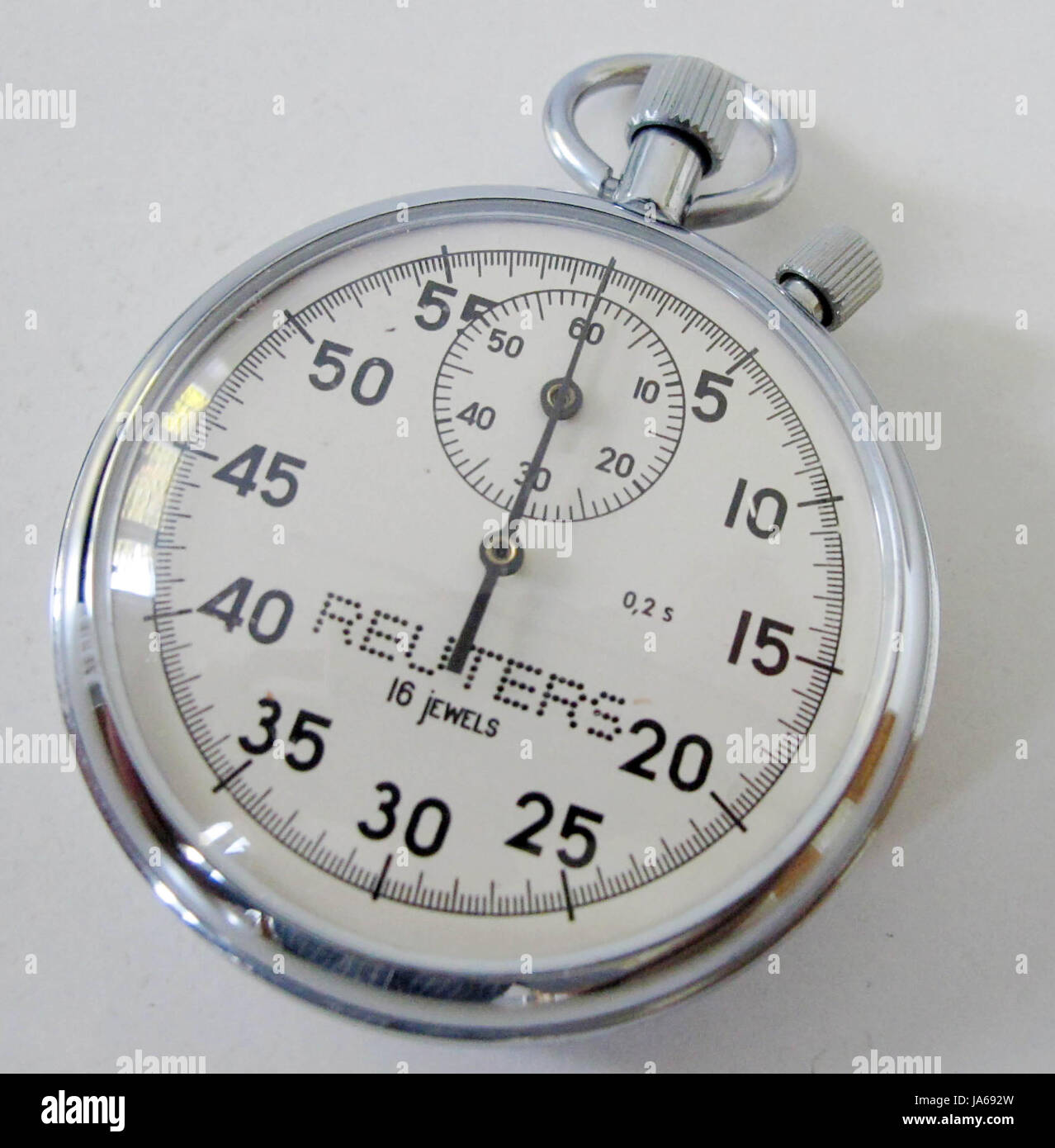 Traditional stopwatch, given by Reuters news agency - Stock Image