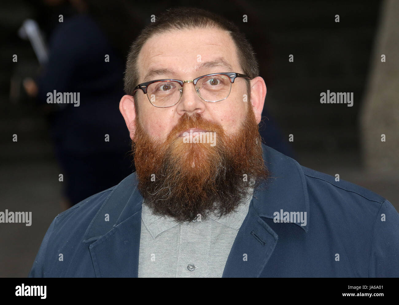 May 08, 2017 - Nick Frost attending 'Jawbone' UK Premiere at BFI Southbank in London, England, UK - Stock Image