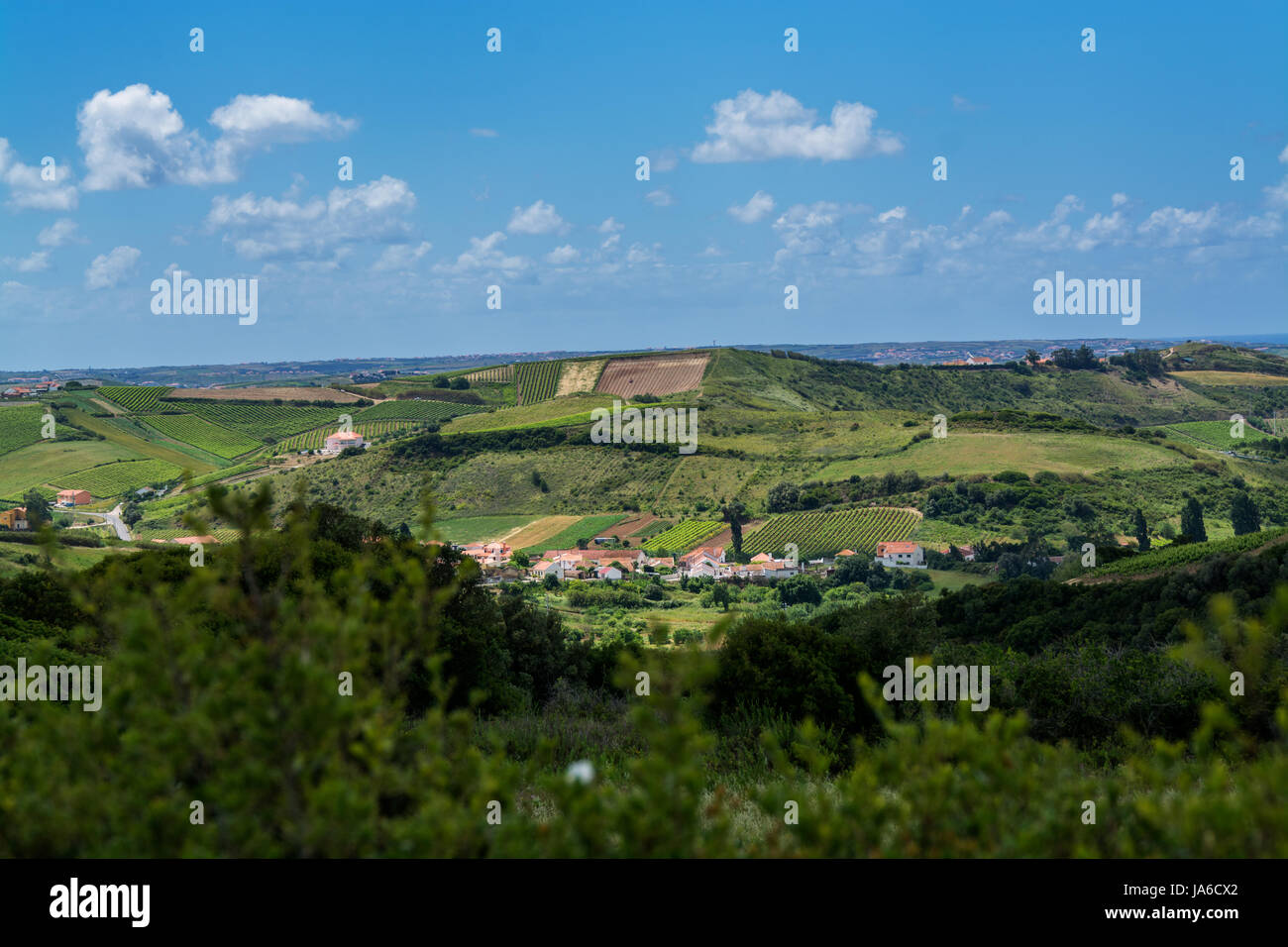 Torres Vedras Portugal. 18 May 2017.View of the country side inTorres Vedras.Torres Vedras, Portugal. photography - Stock Image