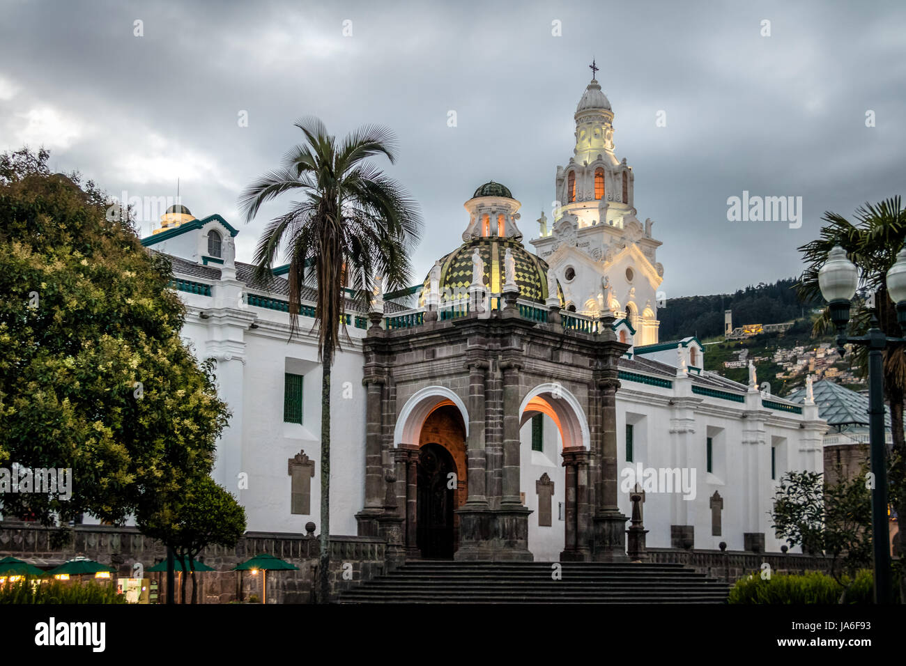 Plaza Grande and Metropolitan Cathedral - Quito, Ecuador - Stock Image