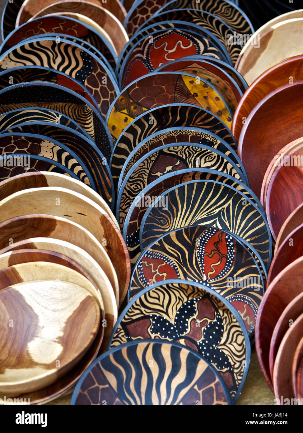 South Africa African Painted Wooden Cape Town Bowls Design