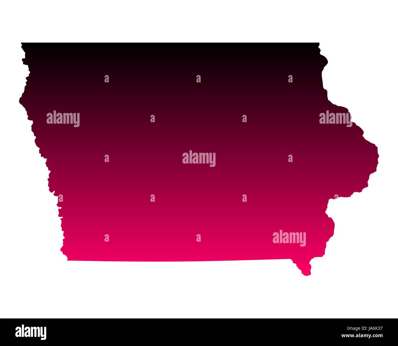 Karte von Iowa - Stock Image