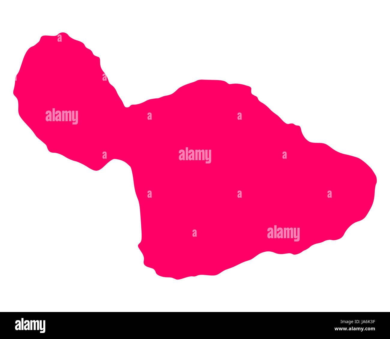 Karte von Maui - Stock Image