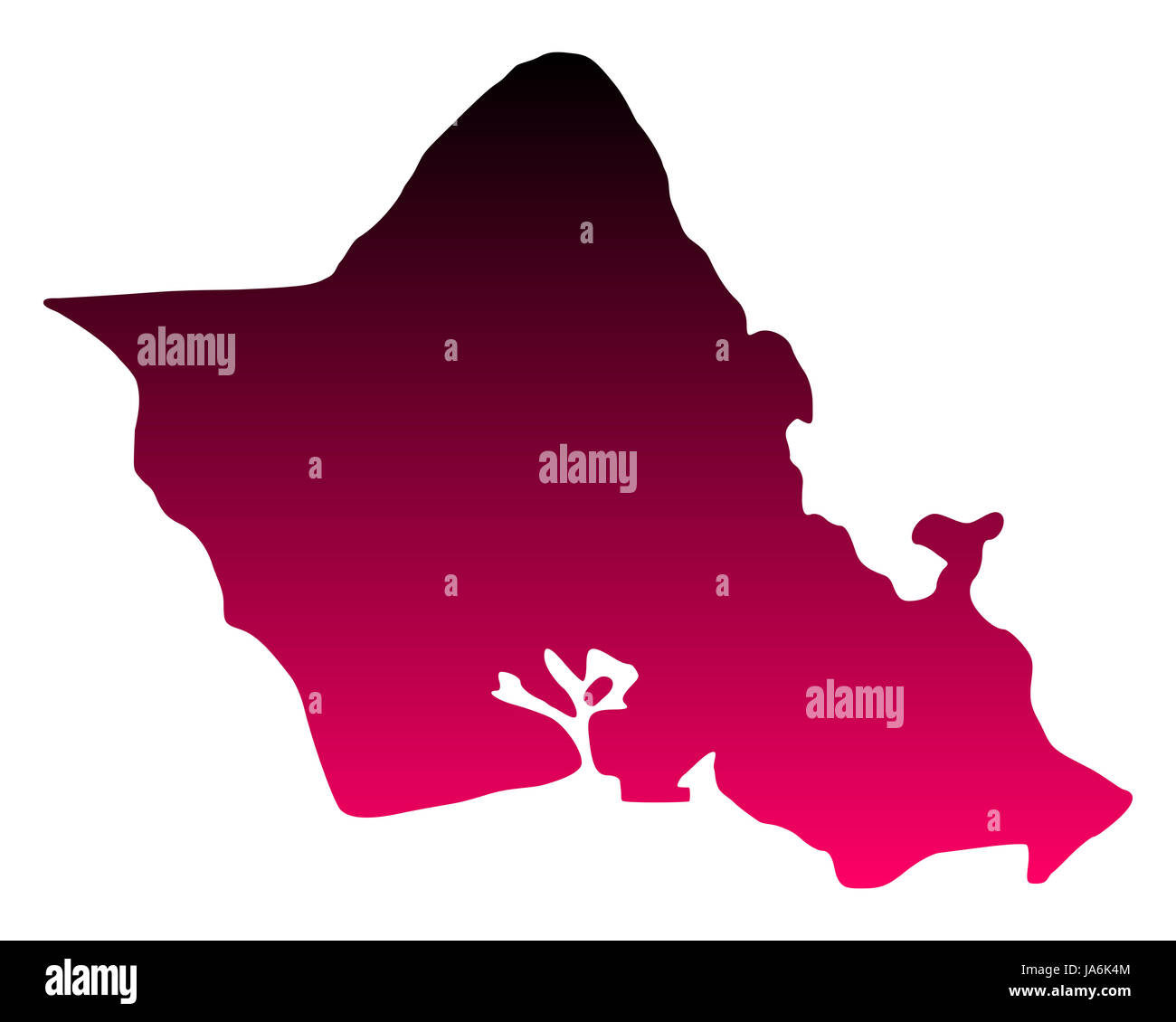 Karte von Oahu - Stock Image