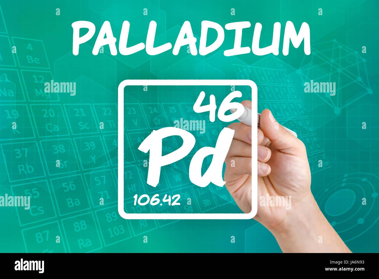 Palladium Chemical Element Stock Photos Palladium Chemical Element