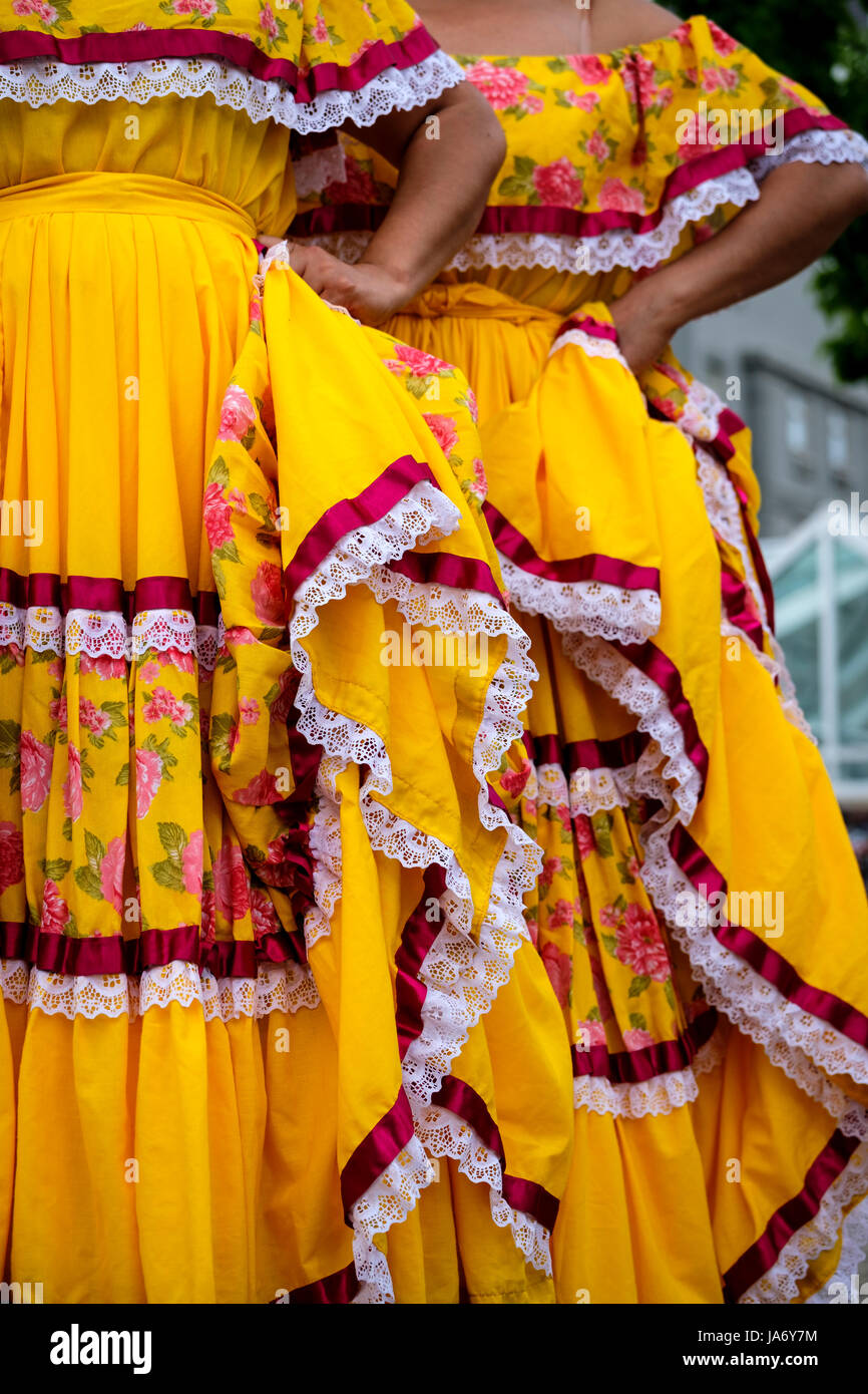 Yellow Mexican Dress