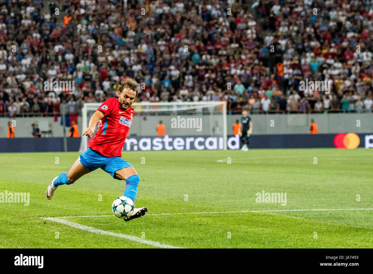 August 23, 2017: Filipe Teixeira #80 of FCSB Bucharest   during the UEFA Champions League 2017-2018, Play-Offs 2nd - Stock Image