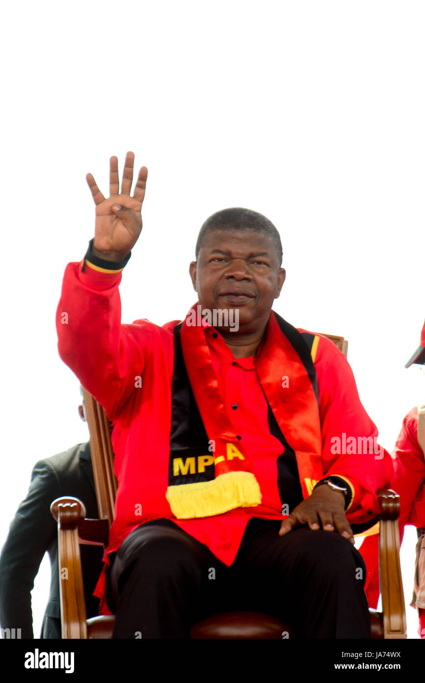 (170824) -- LUANDA, Aug. 24, 2017 (Xinhua) -- Joao Lourenco, presidential candidate for Angola's ruling People's - Stock Image