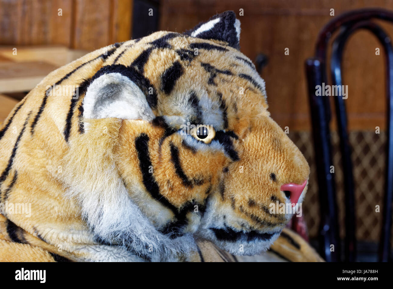 Photo soft toy tiger - Stock Image