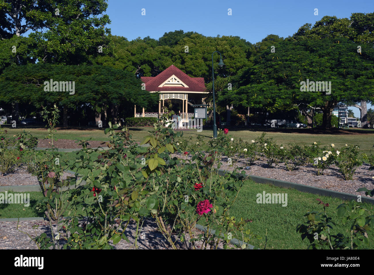 New Farm Park, Brisbane, Australia: Popular rose gardens and bandstand - Stock Image