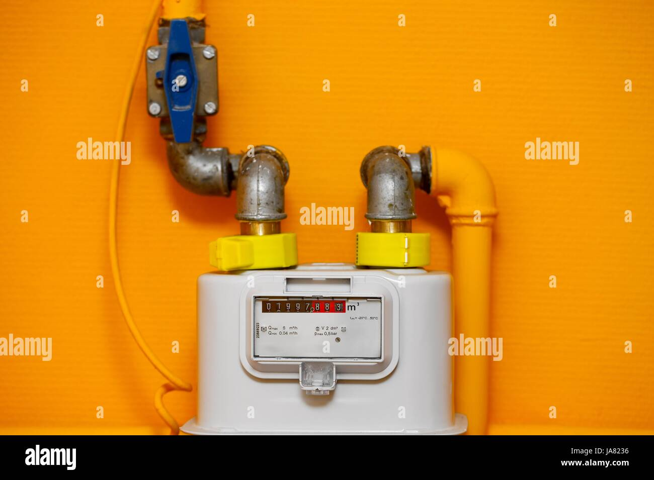 house, building, consumption, household, flow, engineering, interior, measured, - Stock Image