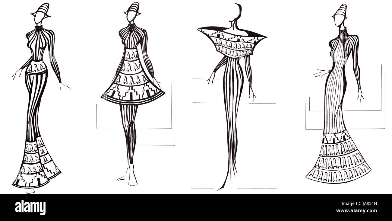 Woman Education Fashion Model Design Project Concept Plan Stock Photo Alamy