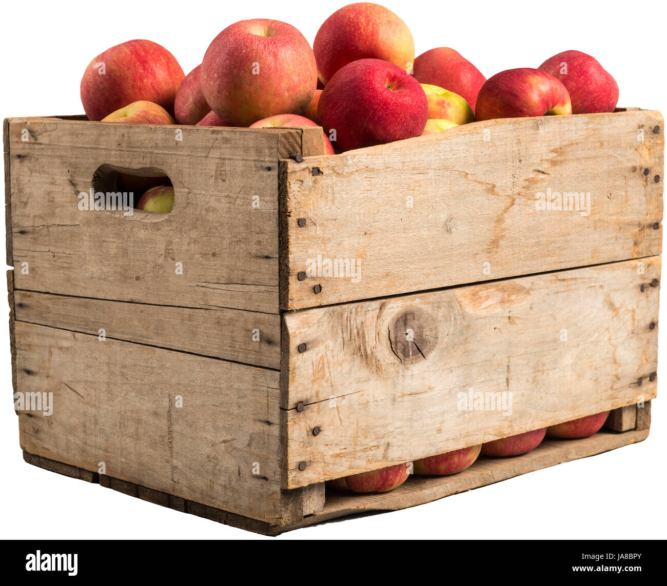 Apples Apple Box Boxes Crate Food Aliment Health Isolated