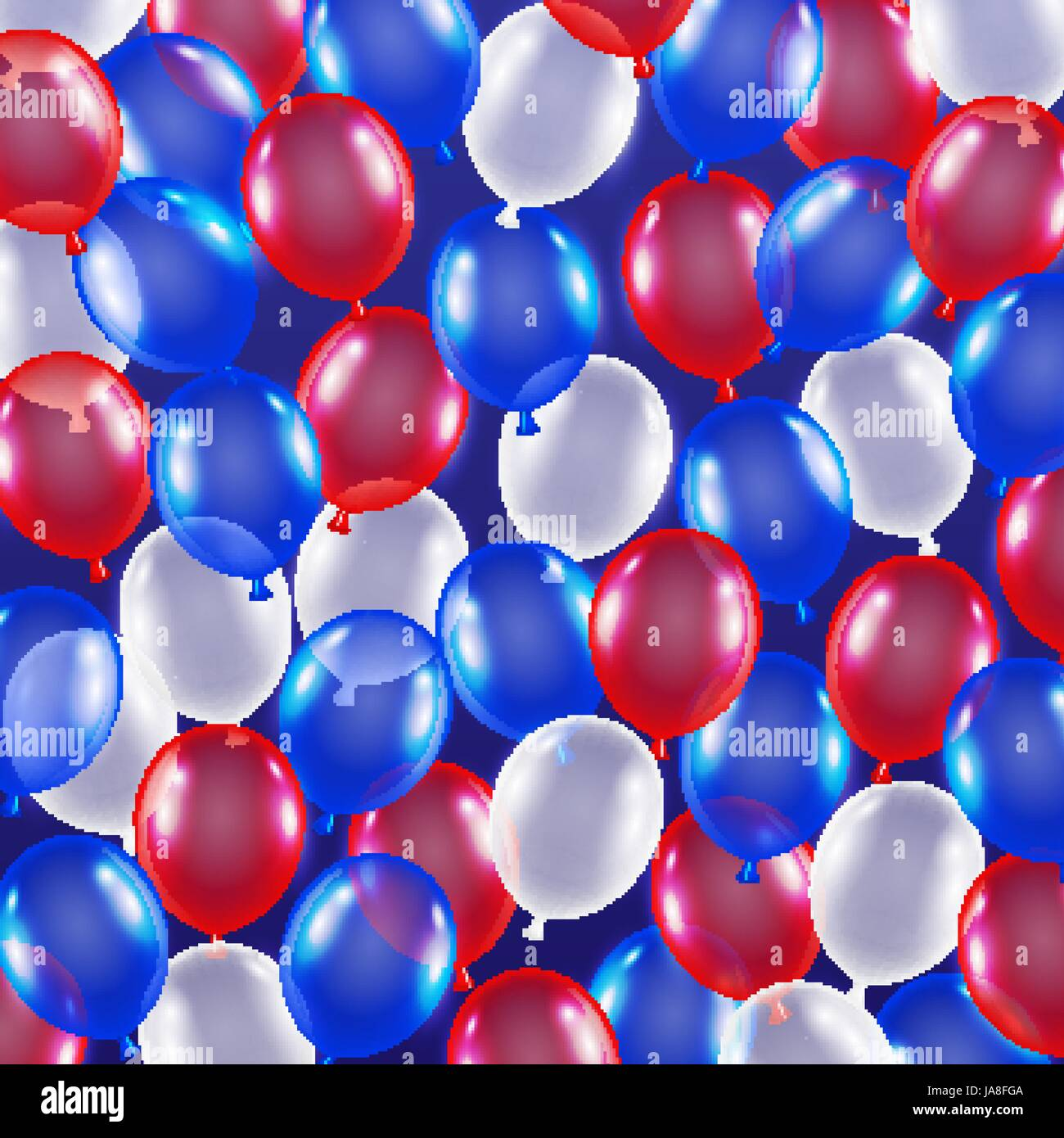 Red Blue White Balloon Background Usa Flag Theme Stock Vector Image Art Alamy