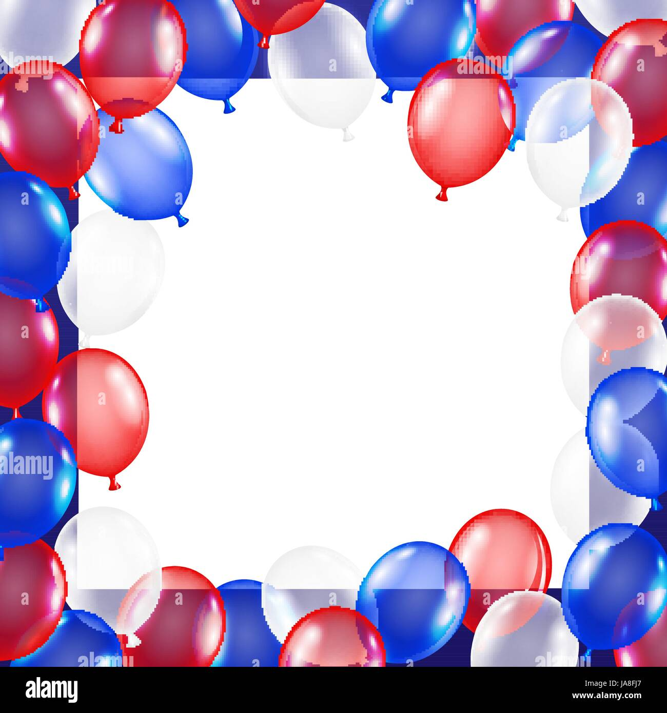 8d4752f54ec usa flag theme balloon background with white paper Stock Vector Art ...