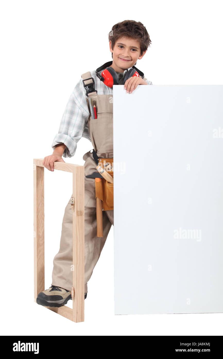 wood, framed, carpenter, frame, framing, carpentry, workers, laborer, worker, - Stock Image